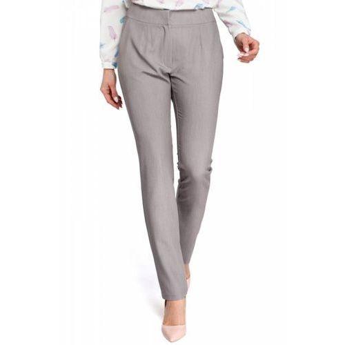 fa4fa7683d65a3 Beżowe Eleganckie Spodnie Rurki z Eko-skóry, rurki (MOE) opinie + ...