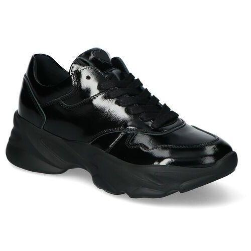 Sneakersy Chebello 2577-240 Czarne Lakier, kolor czarny