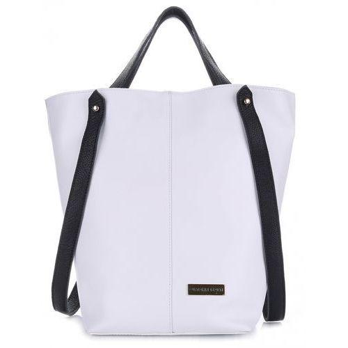 38d0857e94e8b VITTORIA GOTTI Made in Italy Ekskluzywna Torba Skórzany Shopperbag XXL  Biała (kolory)