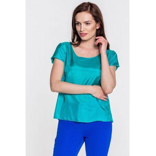 Jedwabna bluzka w zielonym kolorze - Kossmann