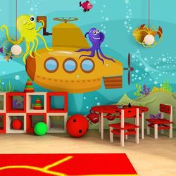 Artgeist Fototapeta - łódź podwodna