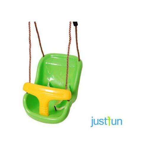 Huśtawka kubełkowa - zielono-żółty marki Just fun