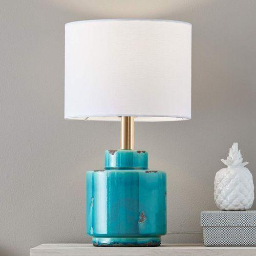 Lampa Stolowa Cous E27 1 X 60 W Niebiesko Biala 106606 Ceny Opinie