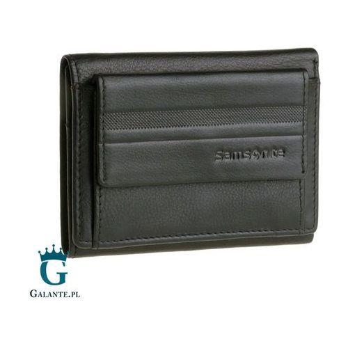 cc028d1e8b5e0 Mały portfel męski Samsonite z zewnętrzną kieszenią na bilon 15A-248 RFID