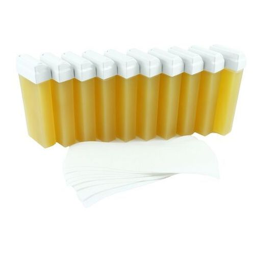 Zestaw do depilacji wosk miodowyx10+paskix100 Cosnet - Najlepsza oferta
