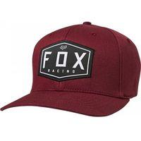 Fox czapka z daszkiem crest flexfit cranberry