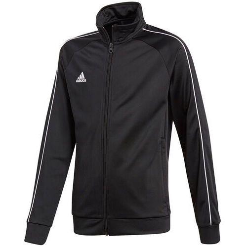 Bluza dla dzieci adidas Core 18 Polyester Jacket JUNIOR czarna CE9052, CE9052
