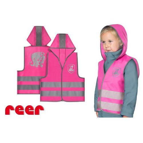 Kamizelka odblaskowa, XS, dla dzieci 2 lata+, REER - różowy (4013283530221)