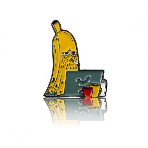 Przypinka - Banan w robocie