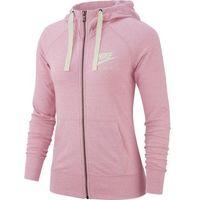 Nike bluza damska W Nsw Gym Vntg Hoodie Fz Pink Foam Sail L