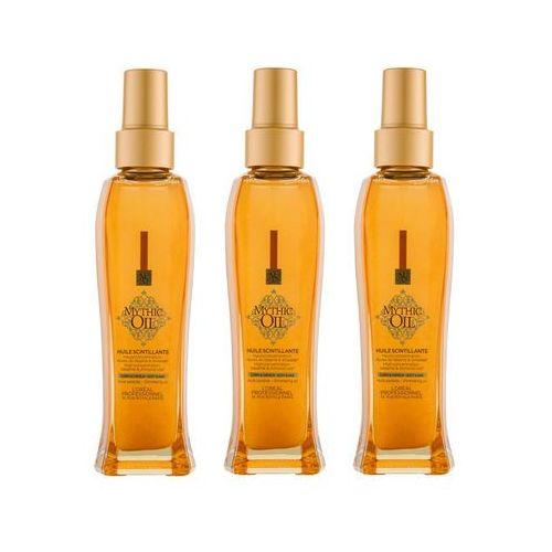 Zestaw mythic oil shimmering oil - olejek do włosów i ciała z opalizującymi drobinkami 100ml x3 Loreal