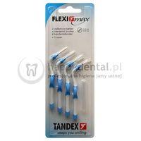 flexi-max 4szt. blister 0.6-3.0mm (niebieskie) - zestaw 4 szczoteczek międzyzębowych (aqua) marki Tandex