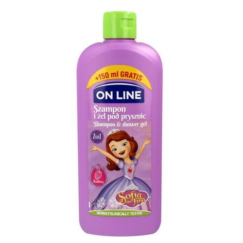 On Line Disney Sofia the First, 400ml. Szampon i żel pod prysznic 2w1 - On Line
