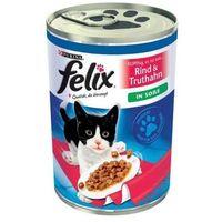 Felix kawałeczki mięs w sosie puszka 400g wybór snmaków