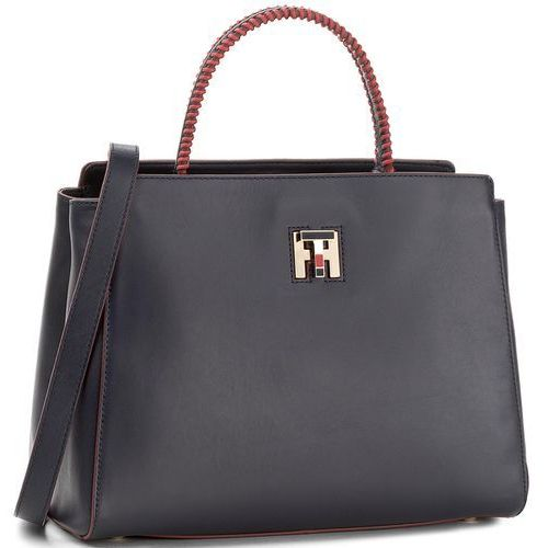 eb9903cbe1051 Torebka TOMMY HILFIGER - Th Twist Leather Med Tote Lacing AW0AW05263 ...