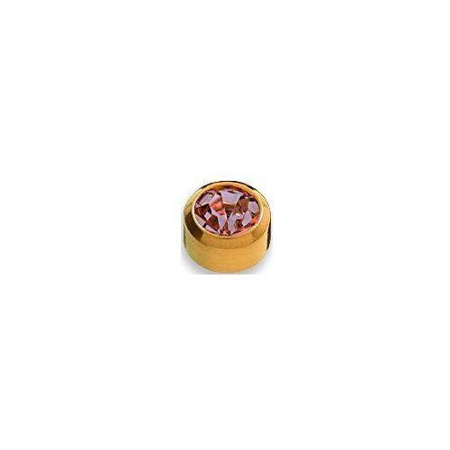 Studex Kolczyk aleksandryt w oprawie pełnej kolor złoty+ r206y