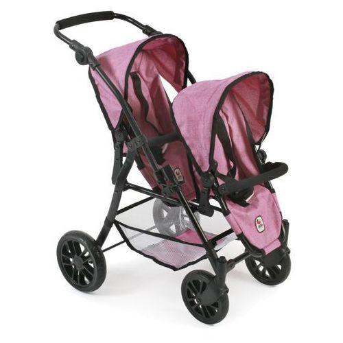 wózek tandem twinny, jasny różowy marki Bayer chic