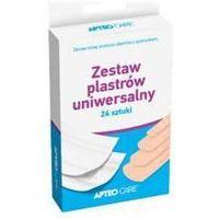 Apteo care zestaw plastrów uniwersalne x 24 sztuki marki Synoptis pharma