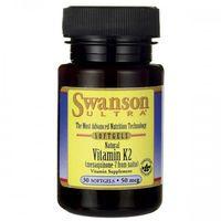 Swanson Witamina K2 MK-7 Naturalna 50mcg - (30 kap) (0087614026718)