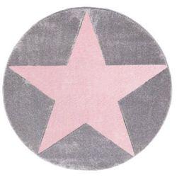 LIVONE Dywan dziecięcy Happy Rugs Star 160 cm, okrągły kolor srebrnoszary