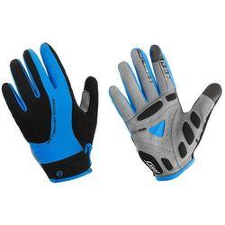 Rękawiczki z długimi palcami Accent Champion czarno-niebieskie XL - czarno - niebieskie