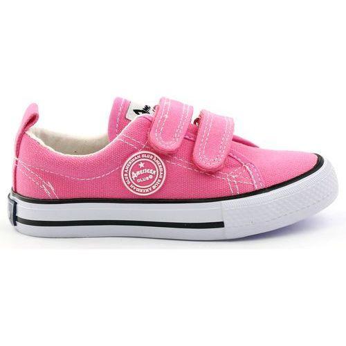 65b6a70228a3e ▷ Trampki tenisówki dziewczęce american róż (Buty American Club ...