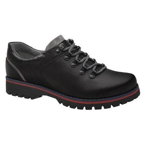 Półbuty buty trekkingowe 5330 czarne - czarny marki Kornecki