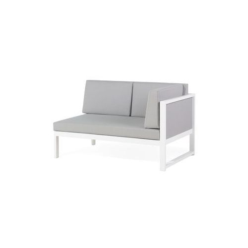 Aluminiowe Meble Ogrodowe Biało Szare Meble Balkonowe Vinci Beliani