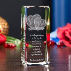 Podziękowania dla rodziców i gości  Kryształy3D.pl