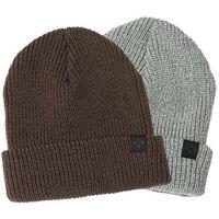 czapka zimowa KREW - Gunner Beanie 2 Pk Grey Htr/Olive (GRG)
