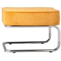 Zuiver stołek/podnóżek ridge rib żółty 3300006