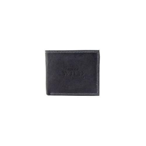949b395404f12 Czarny męski portfel skórzany n251-hm black (Always Wild) - sklep ...