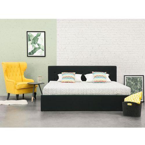łóżko Czarne 180x200 Cm Ze Skrzynią Na Pościel Lorient Beliani