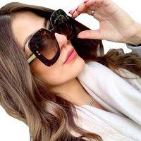 Okulary damskie panterkowe przeciwsłoneczne duże