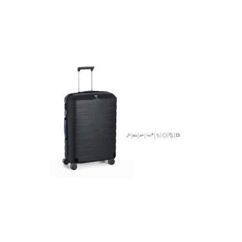 Roncato walizka średnia z kolekcji box 4 koła materiał policarbon zamek szyfrowy tsa