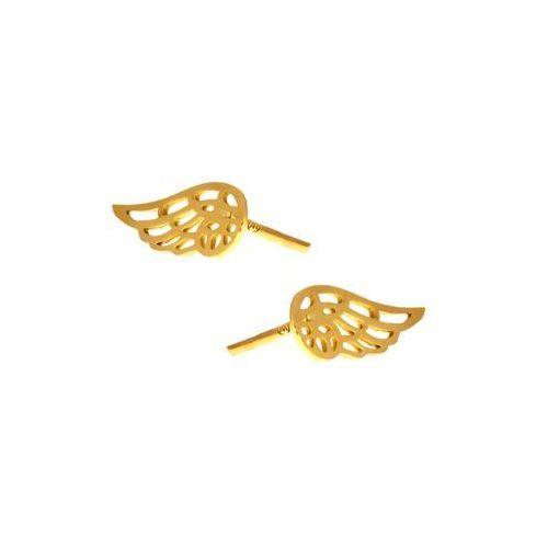659d03a4a51852 Kolczyki złote skrzydełka - złoto próby 0.333 \ 0,83g - sklep ...