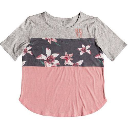 koszulka ROXY - He Win Cb Ss T Charcoal Heather Flower Field (KPG6) rozmiar: XS