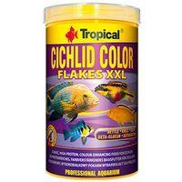 cichlid color flakes xxl - pokarm wybarwiający dla pielęgnic 1l/160g marki Tropical