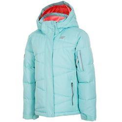 dziewczęca kurtka narciarska j4z17 jkudn301 miętowy jasny 104 marki 4f