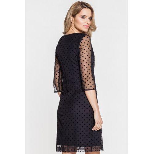 14da9c5200 Czarna sukienka koronkowa w kropki (De Facto) - sklep SkladBlawatny.pl