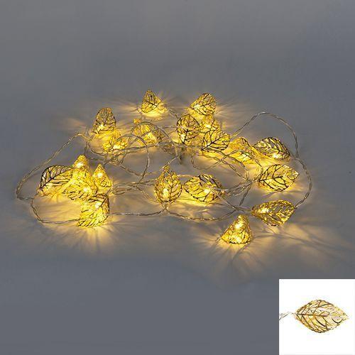Oswietlenie swiateczne lancuch swietlny Blad 20 LED barwa cieplo biala 3,8 m