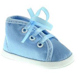 Atłasowe buciki dla dzieci Omnia Baby M006 - Niebieski