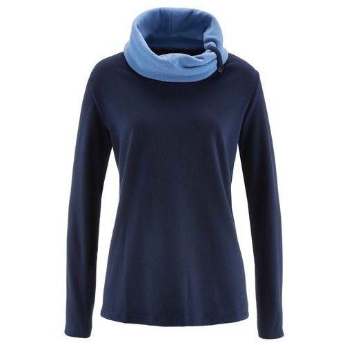 Bluza z polaru, długi rękaw bonprix ciemnoniebieski, poliester