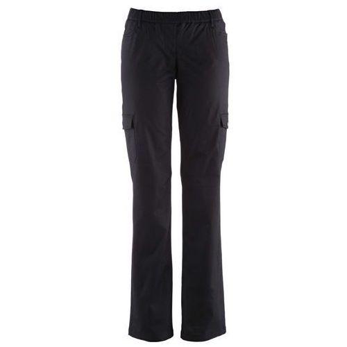 Spodnie bojówki ocieplane czarny, Bonprix, 34-46