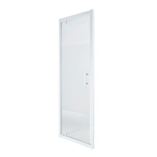 Drzwi prysznicowe wahadłowe Onega 80 cm biały/wzór, C20