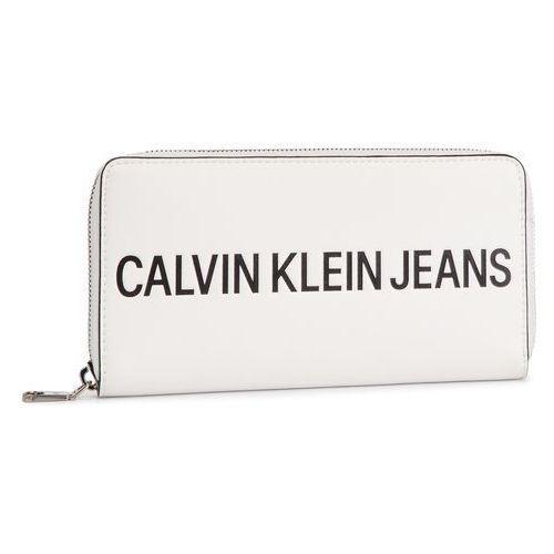 f8afeeb146841 Zobacz ofertę Duży Portfel Damski CALVIN KLEIN JEANS - Sculpted Logo Large Zip  Around K60K605266 102