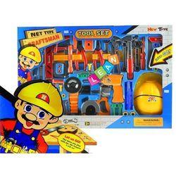 Lean toys Wielki zestaw narzędzi + kask + pas 55 sztuk -