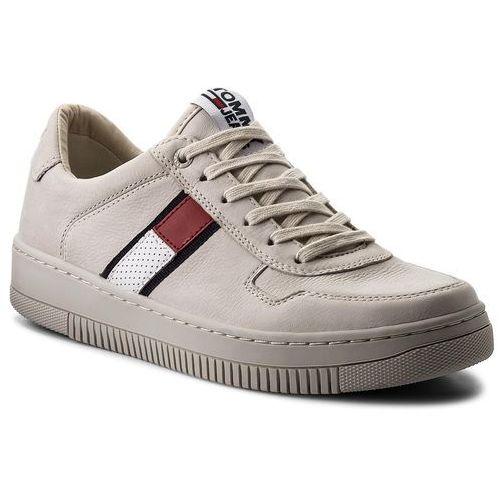 Sneakersy - tj nubuck basket sneaker em0em00085 ice 101, Tommy jeans, 40-46