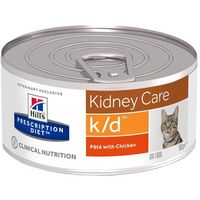 feline k/d kidney care, kurczak - 12 x 156 g marki Hills prescription diet