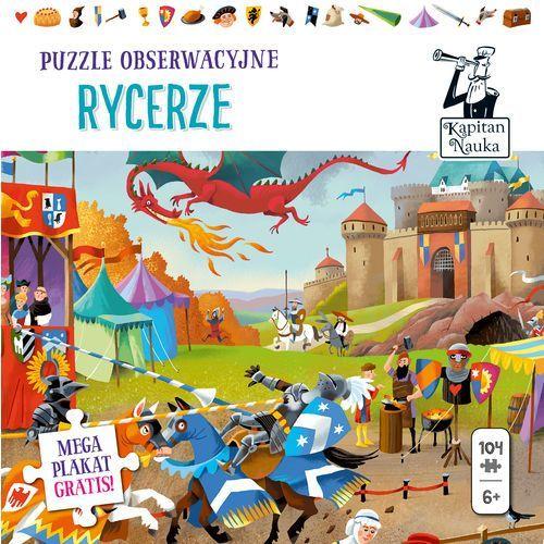 Puzzle obserwacyjne rycerze + plakat xxl kapitan nauka marki Edgard